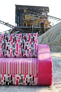 Divano design moderno lineare divano letto tessuto, modello Primo   Gobbo Salotti