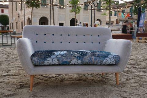 Divano lineare design moderno in pelle o tessuto - Italo - Gobbo Salotti