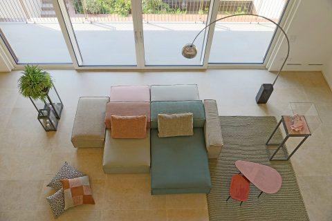 Divano a moduli design moderno - Cubiko - Gobbo Salotti