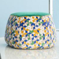 Divano design moderno angolare lineare con poggiatesta reclinabile pelle e tessuto, modello Cartesio | Gobbo Salotti