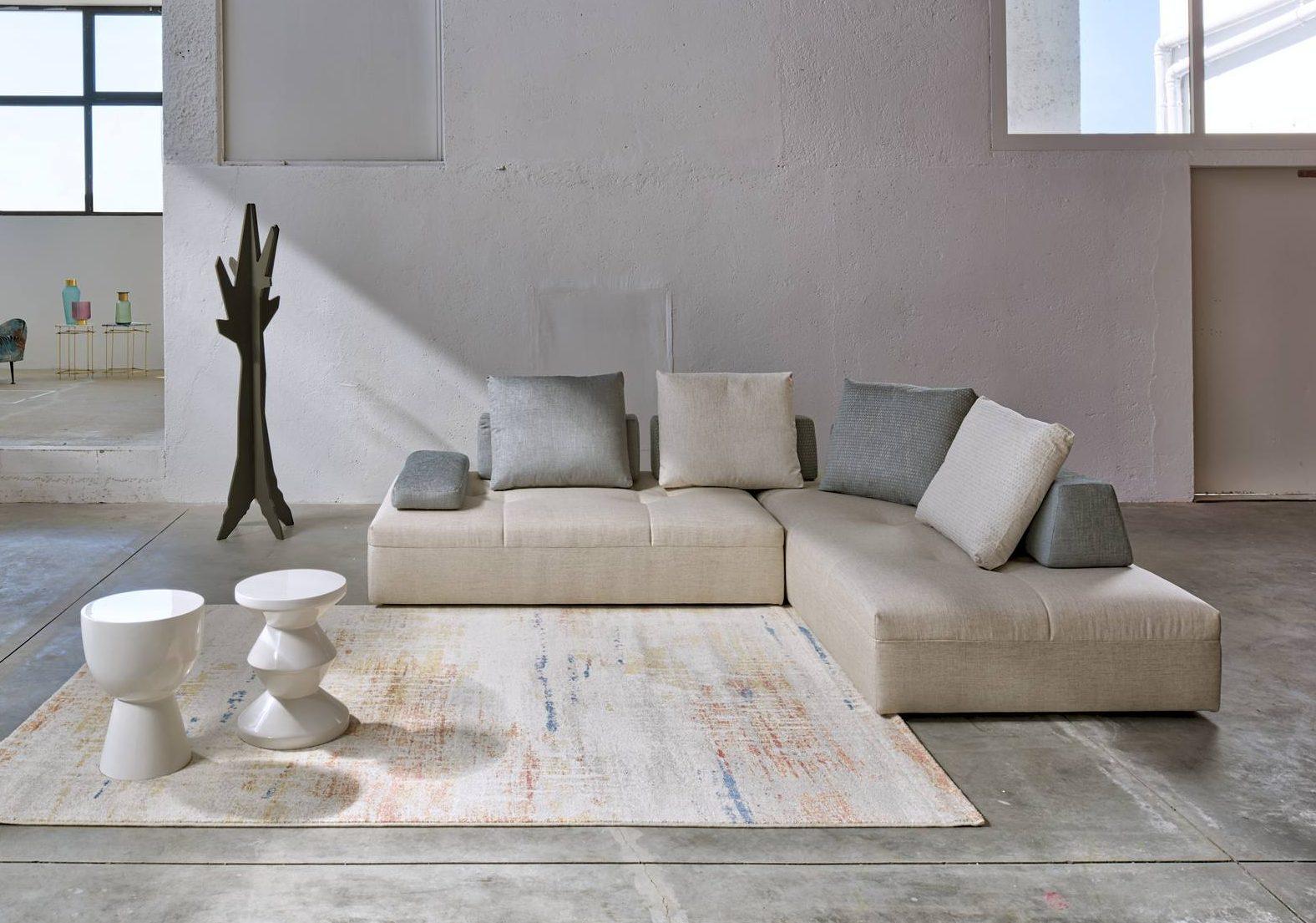 Vergani Home Divani Prezzi divano laguna angolare, lineare, a moduli componibili, con