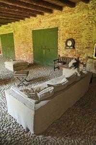 Divano vintage lineare tessuto, modello Lavinia | Gobbo Salotti