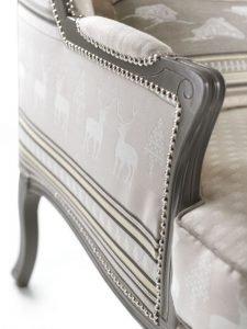 Poltrona vintage classico pelle e tessuto, modello Naxos | Gobbo Salotti