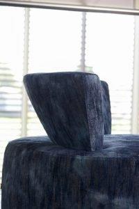 Poltrona design moderno pelle e tessuto, modello Rondo' | Gobbo Salotti