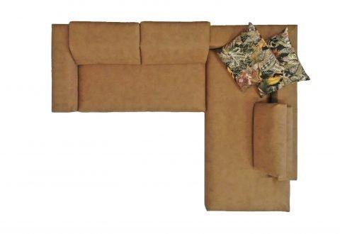 Divano angolare design con poggiatesta reclinabile