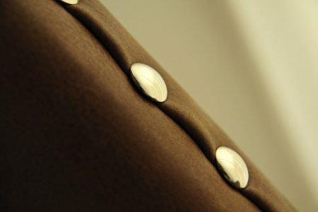 Poltrona design vintage pelle e tessuto, modello Cognac | Gobbo Salotti