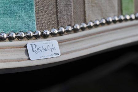 Poltrona design classico tessuto, modello Patchwork   Gobbo Salotti