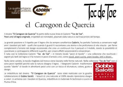 Divano design moderno angolare lineare pelle e tessuto, modello El Caregoon de Quercia | Gobbo Salotti