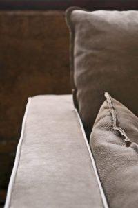 Divano vintage angolare lineare pelle, modello Mexico | Gobbo Salotti