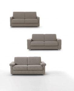 Divano moderno divano letto tessuto, modello Amos | Gobbo Salotti