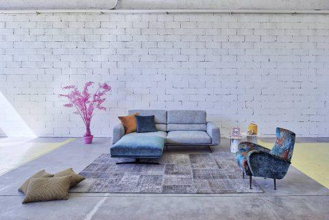 divano moderno con poggiatesta reclinabile - Dorial - Gobbo Salotti