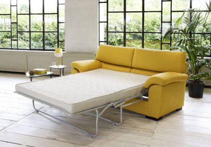 Divano moderno lineare divano letto tessuto, modello Simona | Gobbo Salotti