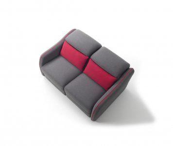 Divano moderno divano letto con relax con poggiatesta reclinabile tessuto, modello Vivaldi   Gobbo Salotti