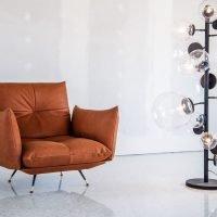 Letto moderno vintage pelle e tessuto, modello Anita | Gobbo Salotti