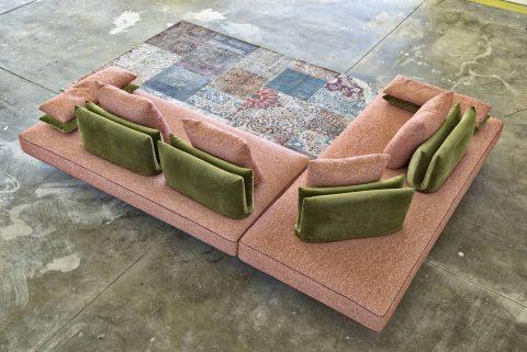 Divano angolare design con schienale mobile - Milano - Gobbo Salotti