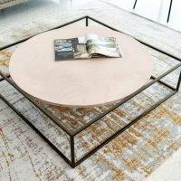 Divano design angolare con schienale mobile lineare pelle e tessuto, modello Milano | Gobbo Salotti