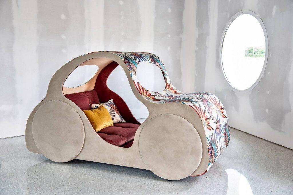 Divano design tessuto, modello Sally Cars | Gobbo Salotti