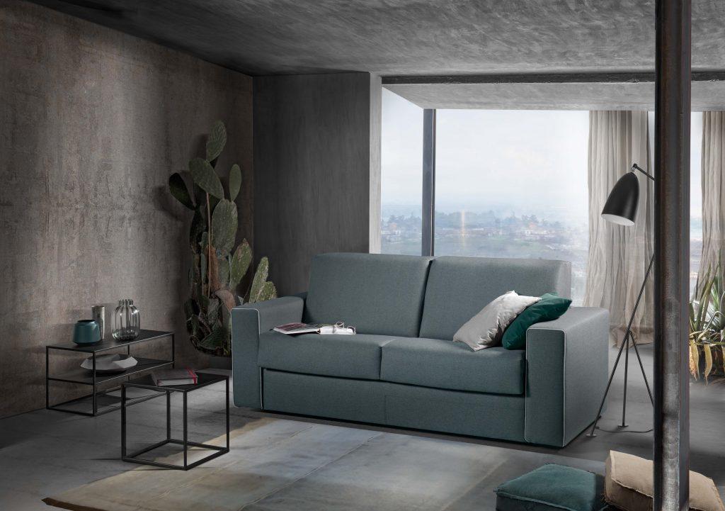 Divano moderno divano letto tessuto, modello Renzo | Gobbo Salotti